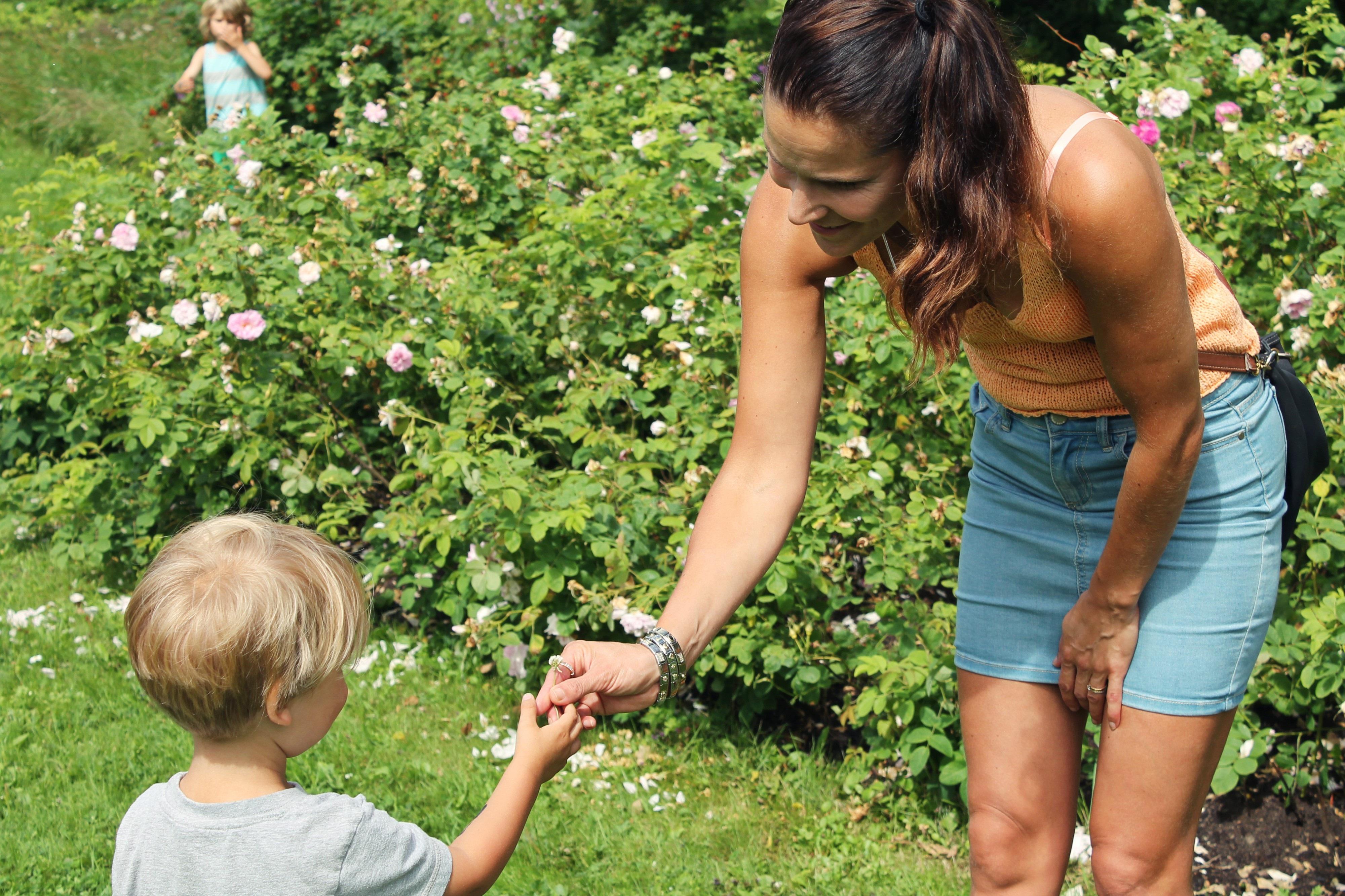 poika antaa kukan äidille