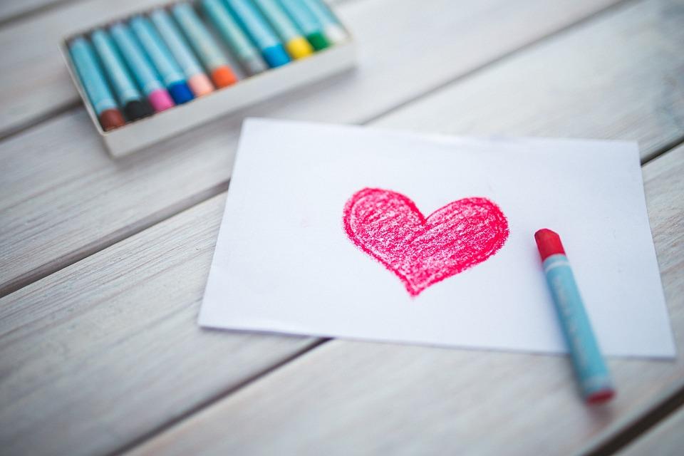 kortti jossa sydän