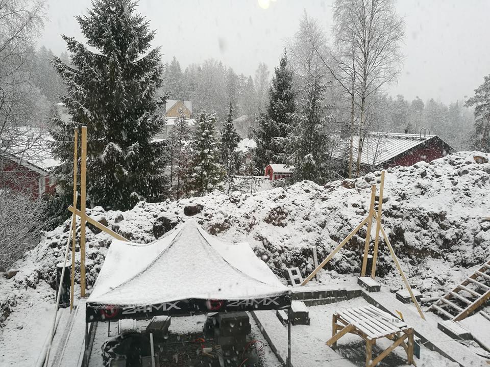 Lumisade ja rakennustyömaa