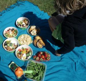 Piknik poikien kanssa