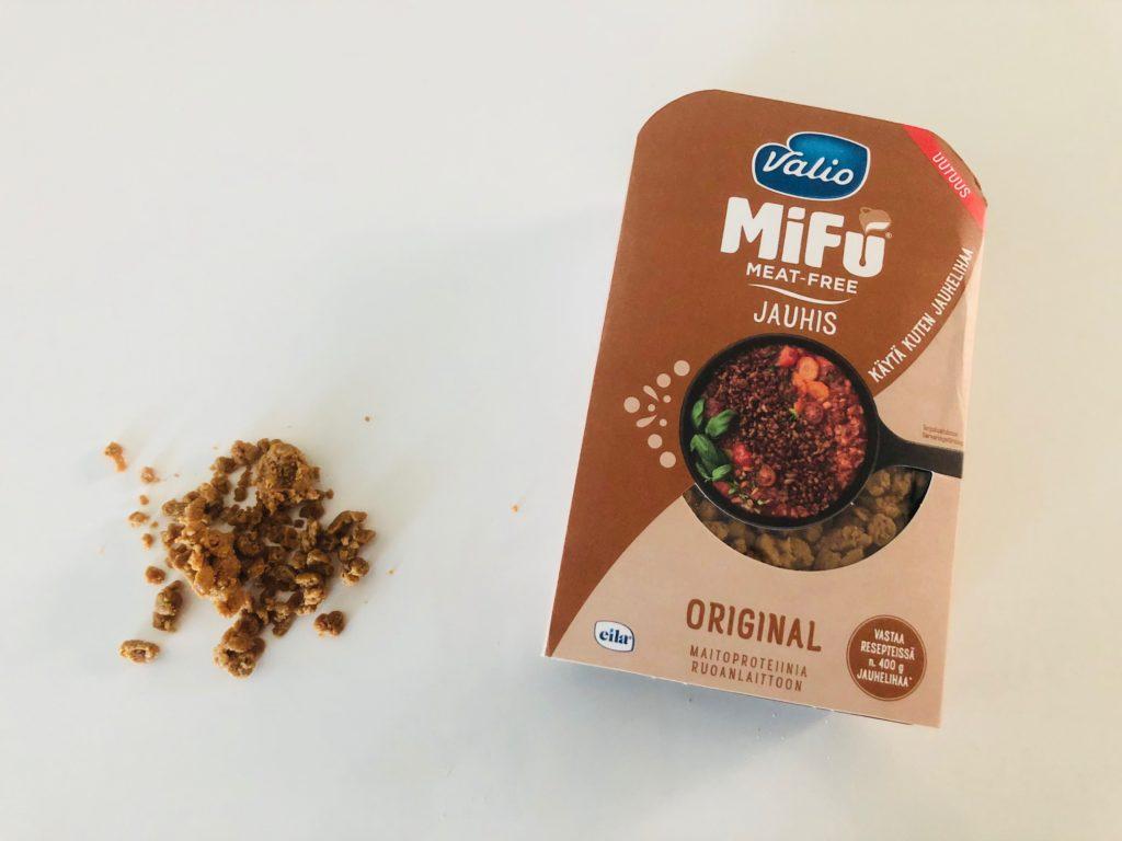 Mifu jauhis näyttää erehdyttävästi jauhelihalta