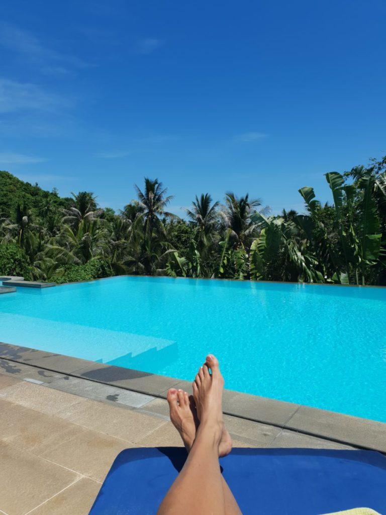 Uima-altaalla rentoutumista