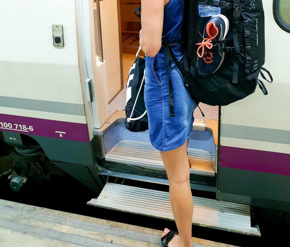junalla Eurooppaan
