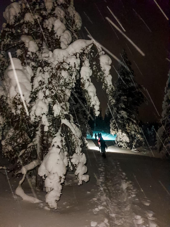 Lumikenkäily Ylläs